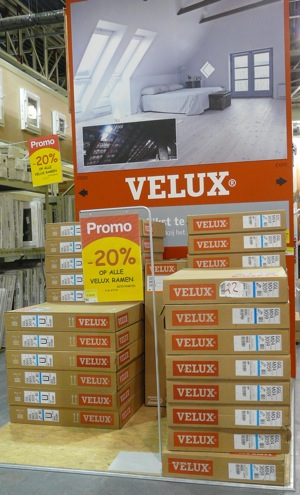 affichage promo velux en promo mais hors promo monitoring the path to purchase. Black Bedroom Furniture Sets. Home Design Ideas