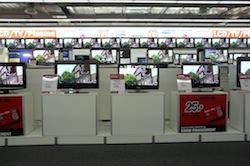 Promo merchandising de tv waterval van mediamarkt - Tv discount belgique ...